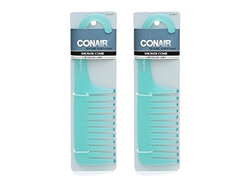 Conair Brush Shower Comb 1 ea (Color's May Vary) (2 pack)