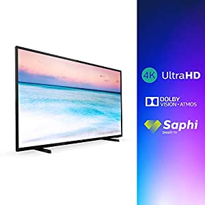 Philips 43PUS6504/12 43-Inch 4K UHD Smart TV with HDR 10+, Dolby Vision, Dolby Atmos, Smart TV – Black (2019/2020 Model)