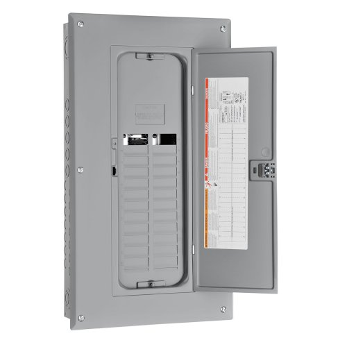 Square D by Schneider Electric HOM24L125TC Homeline 125-Amp 24-Space 24-Circuit Indoor Main Lugs Load Center with Cover and Factory-Installed Ground Bar by Square D by Schneider Electric