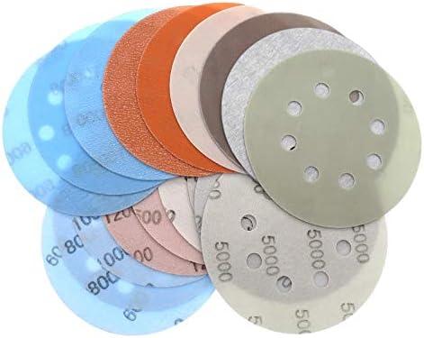10 pcs 185x95mm 8 trous Carr/é flocage papier de verre auto-adh/ésif papier de verre Poreux arri/ère disque de velours Grit 40//60//80//120//150//180~800
