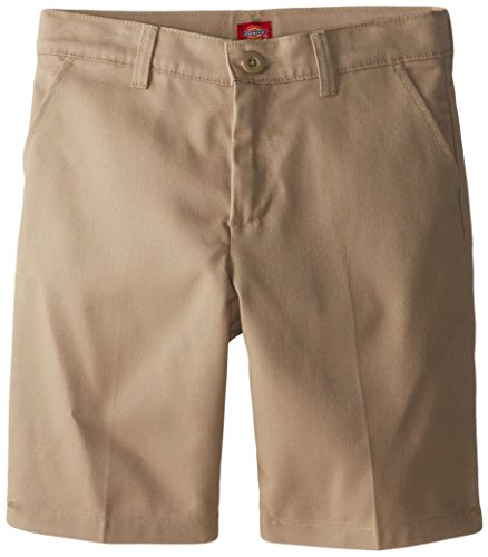 Dickies Girl Big Girls' Flex Waist Slim Fit Flat Front Short, Desert Sand, 8 ()