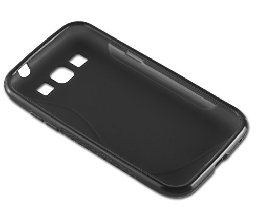 Cadorabo - Samsung Galaxy NOTE 4 (N910) Cubierta protectora de silicona TPU en diseño S-Line - Case Cover Funda Carcasa Protección en ÓXIDO-NEGRO ÓXIDO-NEGRO