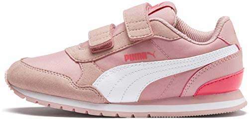 - PUMA Unisex ST Runner Velcro Sneaker, Bridal Rose White-Calypso Coral, 10.5 M US Little Kid