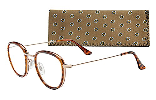 """Oxford"" Men's Round Reading Glasses by ICU"