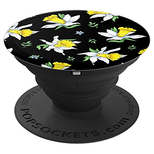 Yellow Flowers Daffodil Cute Watercolor Nature Pattern Gift - PopSockets Grip and Stand for Phones and Tablets