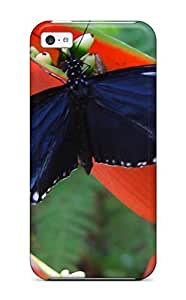 Hot Tpye Tropical Butterfly Case Cover For Iphone 5c