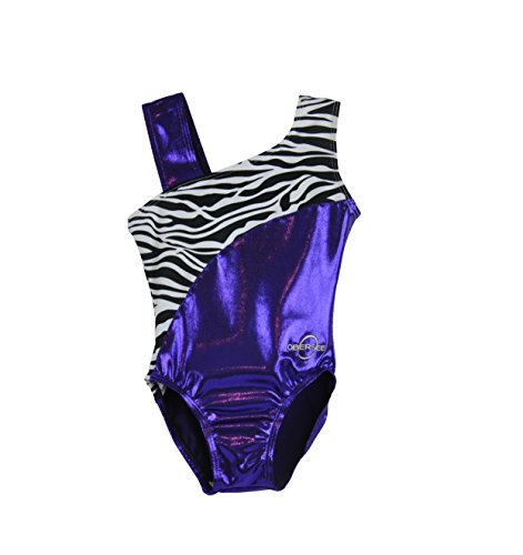 Obersee Kid's Gymnastics Leotard, Purple Zebra, CS (Leotard Cs)