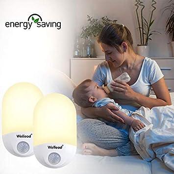 Nachtlicht Steckdose Techole LED Nachtlicht Kind mit Dämmerungssensor Baby Licht