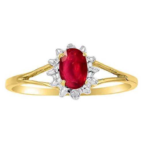 Mia Diamonds 14k White Gold 6x4mm Oval Citrine Ring