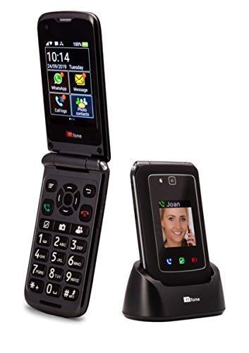 🥇 TTfone Titan TT950 Whatsapp 3G Pantalla táctil Senior Big Button Flip Teléfono móvil: fácil y fácil de Usar