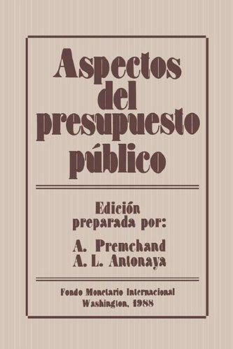 Aspectos del presupuesto público (Spanish Edition): 9781557750143 ...