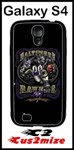 NFL Baltimore Ravens Case for Samsung Galaxy S4 Hard Silicone Case
