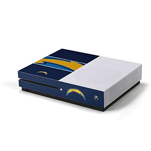 (Skinit NFL Los Angeles Chargers Xbox One S Console Skin - Los Angeles Chargers Zone Block Design - Ultra Thin, Lightweight Vinyl Decal Protection)