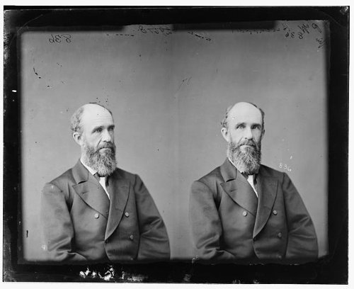 Nebraska Portrait Picture Frame (Photo: Hitchcock,Honorable Phineas Warren,Nebraska,politicians,portrait photograph,1865)