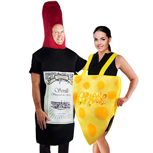 Wine And Cheese Halloween Costume (Tigerdoe Couples Costumes - Wine & Cheese Costume - Funny Adult Halloween Costumes - Food Costume - 2)
