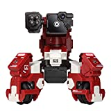 GJS Robot - GEIO App-Enabled Augmented Reality Gaming Robot with High Speed Motion System, Multi-Player Battle Mode and STEM Coding Interface, Red