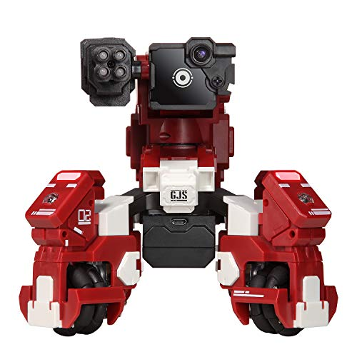GJS Robot - GEIO App-Enabled Augmented Reality Gaming Robot with High Speed Motion System, Multi-Player Battle Mode and STEM Coding Interface, Red by GJS Robot (Image #9)