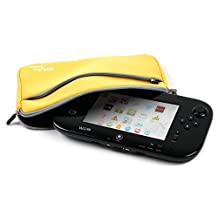 "DURAGADGET Yellow 8"" Neoprene Carry Case For New Wii U Controller - With Front Storage Pocket & Detachable Wrist Strap"