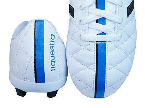 adidas Performance 11 Questra FxG J - Zapatillas de fútbol para niños Blanco