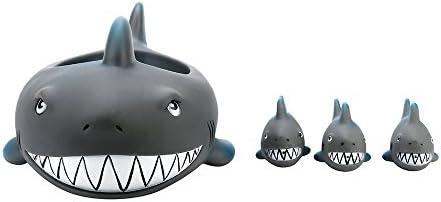 Shrilling Rubber Cute Shark Family Bathtub Pals Floating Bath Tub Toys For Kids