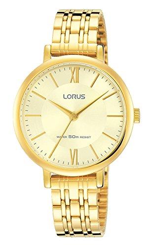 Lorus Reloj Analógico para Mujer de Cuarzo con Correa en Bañada en Orohttps://amzn.to/2TzXu4M