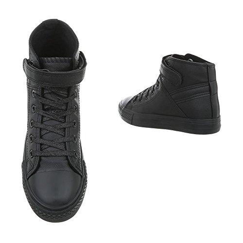 Baskets Ital Sneakers Bl80 High Plat design Chaussures Femme Noir Mode Espadrilles aaTtqwC