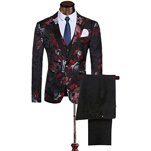 Cloudstyle-Mens-Fancy-Notched-Lapel-Allover-Floral-Print-Blazer-suit-3-piece-Set