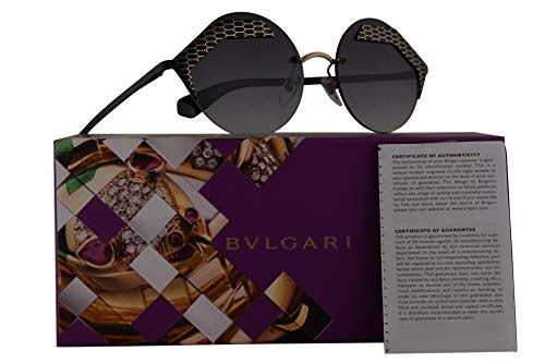 069f12c484e Amazon.com  Bvlgari BV6089 Sunglasses Matte Black Pale Gold w Grey Gradient  55mm Lens 20288G BV 6089 Bulgari  Clothing