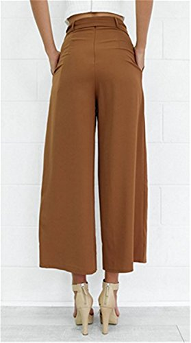 93bea8848d Womens Hot Fashion Tenths Pants Cropped Pants Bowknot Belted ...