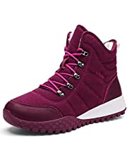Winter Boots Men Women Ankle Snow Hiking Boots Anti Slip Warm Fur Lined Water Resistant Shoes for Outdoor Trekking Walking