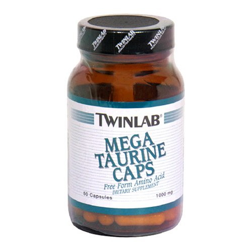 Twinlab Mega Taurine Caps 1000mg, 50 Capsules (Pack of 4)