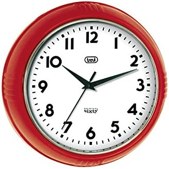 Trevi Original Sixty Retro Red Wall Clock