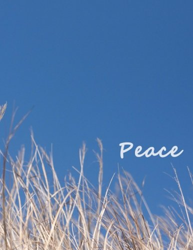 Peace Journal: Blue-sky 100 pages Notebook (Composition Book Journal) (8.5 x 11 ()
