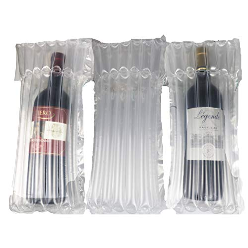 100 PCS Wine Bottle Protector \Sleeve for Travel, Shipment. Inflatable Air Column Cushion Bag for Packing and Safe Transportation of Glass Bottles in Airplane Cushioning