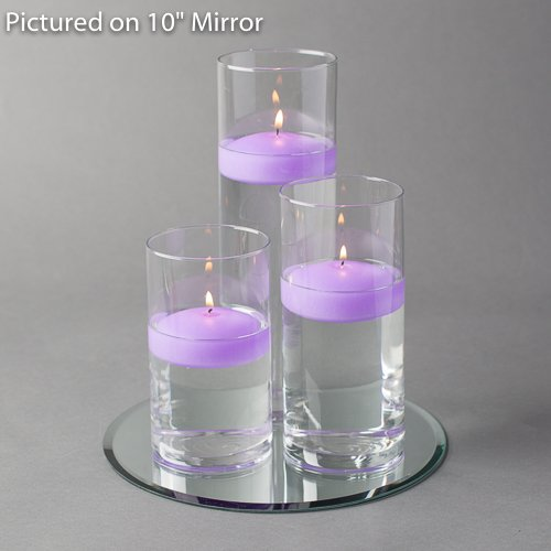 Eastland Round Mirror and Cylinder Vases Centerpiece with Richland Floating Candles 3