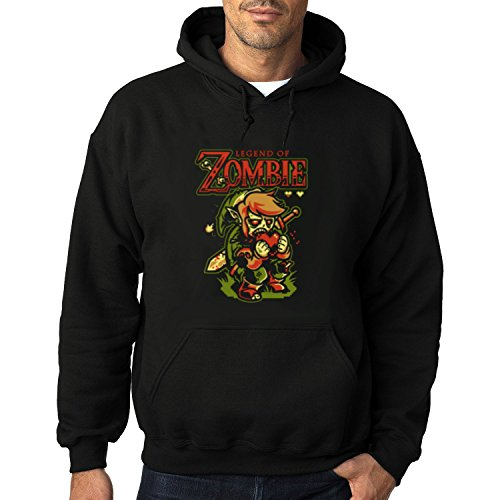 Men's The Legend Of Zombie Heavy Blend Adult Hoodie Sweatshirts XXL Black hot -