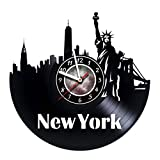 New York City Vinyl Record Wall Clock – Get unique living room wall decor – Gift ideas for friends, teens, men and women, girls and boys – NY Unique Art Design Gifts Review
