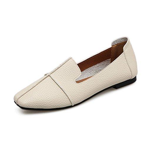 da94578b2cd Giy Femmes Rétro Décontracté Carré Orteils Penny Mocassins Plat Mocassin  Confort Slip-on Classique Robe. chaussures  synthétique ...