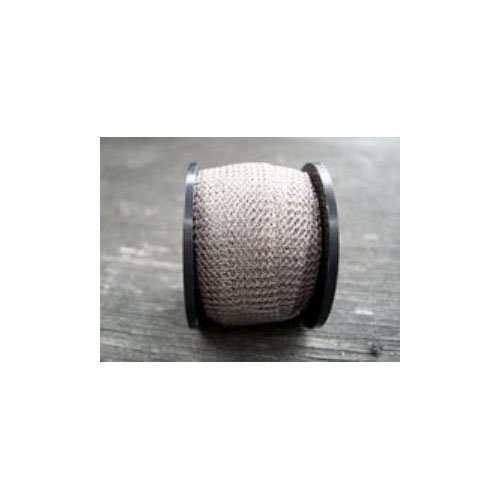 1 x Antique Silver Knitted Copper Wire Mesh 1 Metre x 15mm Flat Tube - (W7116) - Charming Beads Something Crafty Ltd
