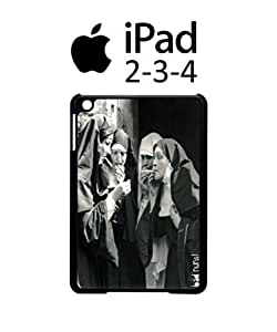 Bad Nuns Smoking Sister Religion iPad 2 3 4 Tablet White