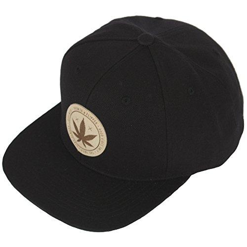 RaOn H98 Marihuana Drug Patch Leaf Design Club HipHop Ball Cap Bill Snapback Flat Hat - Leaf Marihuana