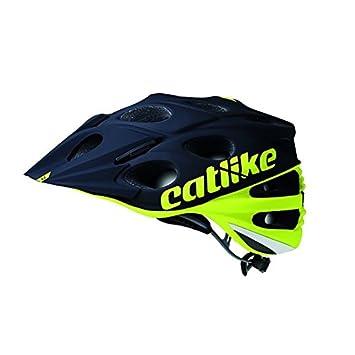 Catlike Leaf 2C Casco de Ciclismo, Unisex Adulto, Amarillo (flúor) / Negro