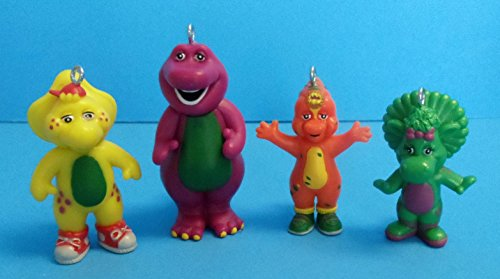 barney christmas ornaments featuring 4 barney ornaments with barney
