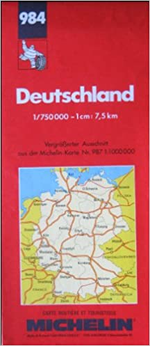 Michelin Map Of Germany.Michelin Main Road Map Germany Deutschland 1999 Michelin Map 984