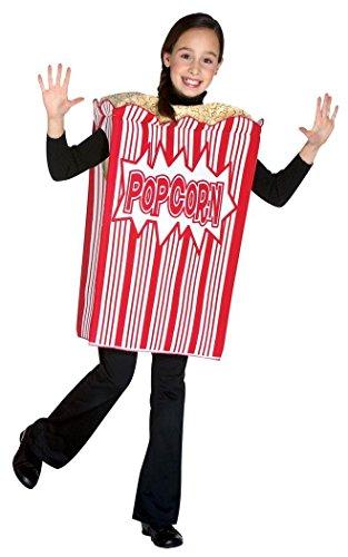 Rasta Imposta Movie Night Popcorn Children's Costume, 7-10, (Popcorn Fancy Dress Costume)
