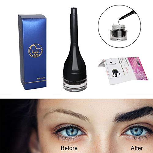 (Eyebrow Extensions Waterproof Instant Eyebrow Hair Extensions with Eye Brow Brush for Women and Men Cosmetics by BabyKim)