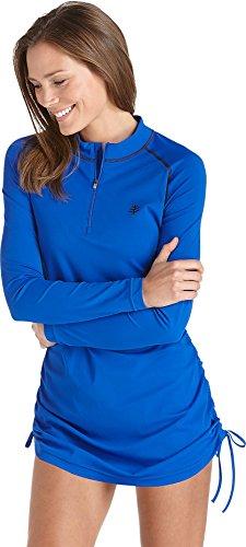 Coolibar Ruche Swim Shirt UPF 50 Plus - Maillot de ciclismo para mujer Rosa (Cobalt)