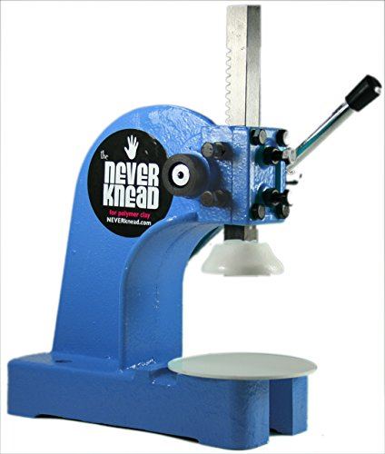 STOP Kneading Polymer Clay - NEW NEVERknead Tool Machine for Artists - Knead Sculpey Fimo & More Easy - Blue by NEVERknead