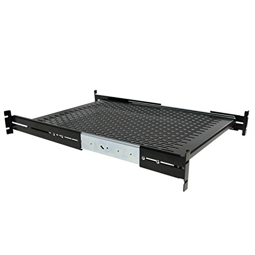 StarTech.com 2U Adjustable Mounting Depth Vented Sliding Rack Mount Shelf- 50lbs / 23kg - Sliding Server Rack Shelf - Server Cabinet - Sliding Rack Shelf