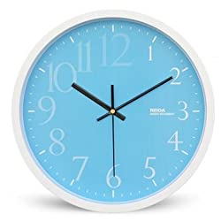 JustNile Decorative Fun Creative Designer 13 Non-Ticking Slient Wall Clock - Fading Numbers in Blue